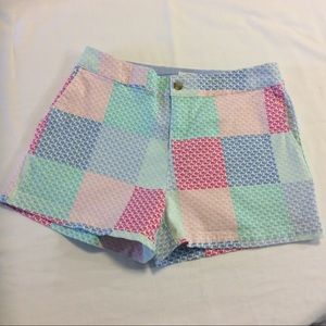 VINEYARD VINES MULTI JEAN SHORTS SZ 6 EUC